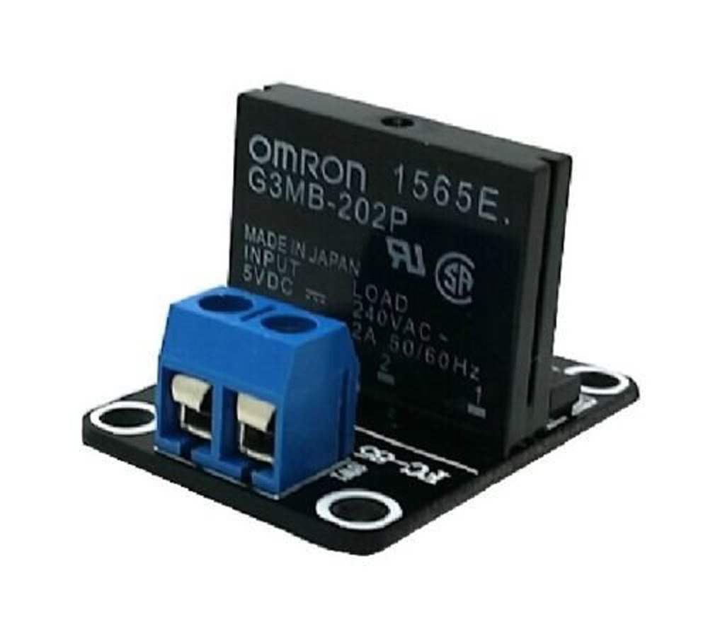 5v 1 Channel Ssr G3mb 202p Solid State Relay Module 240v 2a Output Portable Generator To House Wiring Diagram Also With Resistive Fuse For Arduino By Atomic Market Industrial Scientific
