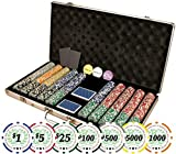 Set of of 750 Casino Del Sol 11.5 Gram Poker Chips with Case, Cards, Dealer Buttons and 2 Cut Cards