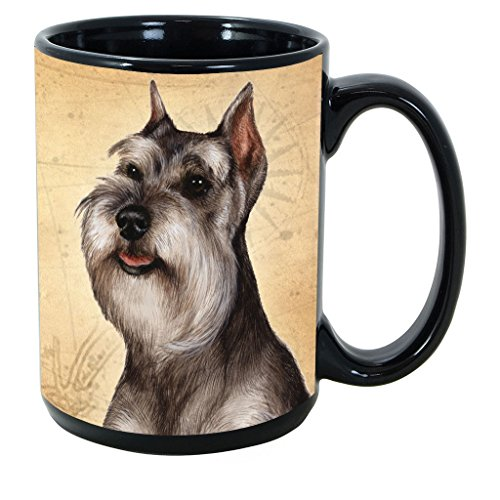 Imprints Plus Dog Breeds (R-Z) Schnauzer Cropped 15-oz Coffee Mug Bundle with Non-Negotiable K-Nine Cash (schnauzer cropped 150) ()