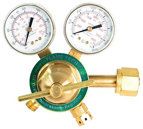 (Flame Technologies VMOR-22 Medium Duty Oxygen Regulator, Victor Compatible)