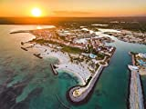 Breathtaking Canvas Wall Art, Cap Cana Marina Sunset, Dominican Republic, Sold In Different Sizes, Ultra High Resolution, Ready To Hang, By Above Deco