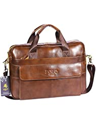 Videng Polo PL279 Hotest Italy Style Mens Top Genuine Leather Handmade Leather Briefcase Shoulder Messenger Business...