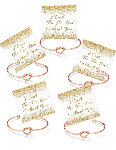 Chicnow Bridesmaid Gifts Bridesmaid Proposal Cuff Bracelets for Women Set of 5