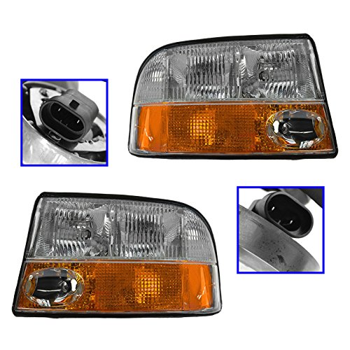 (Headlights Headlamps w/Fog Lights LH & RH Pair Set for GMC Jimmy S-15 Truck)