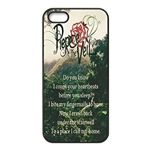 Fashion Pierce the Veil Personalized iPhone 5 5S Rubber Gel Silicone Case Cover