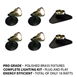 Patriot Brass LED Waterproof Pond and Landscape Lighting 18 Watt Light Kit P-D4