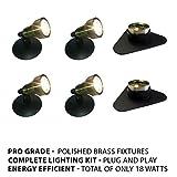 Patriot Brass LED Waterproof Pond and Landscape Lighting 18 Watt Light Kit P-D4