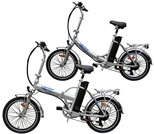 Ein Paar (2 Stk.) 20 Zoll SWEMO Alu Klapp E-Bike / Pedelec SW100 & SW200 Modell 2016 (Silber)