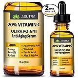 ASUTRA 2 Bottle Value Pack – 20% VITAMIN C Anti Aging Serum – ULTRA POTENT & EFFECTIVE/With Ferulic & Hyaluronic Acid, Vitamin E,Aloe & Jojoba + FREE E-Book For Sale