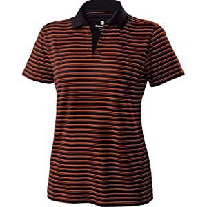 Holloway Dry-Excel Ladies Helix Polo Shirt (X-Small, Black/orange)