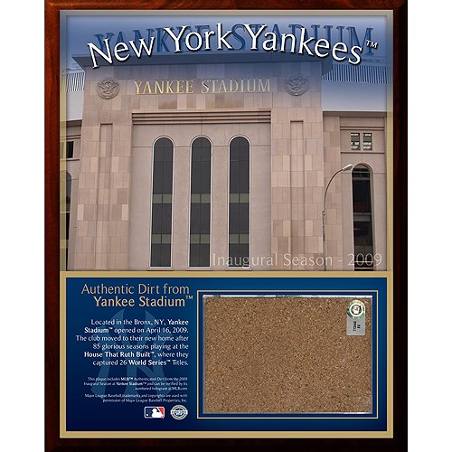 Steiner Sports MLB New York Yankees 2009 Stadium 8 x 10-inch Dirt - Yankee Stadium Photomint