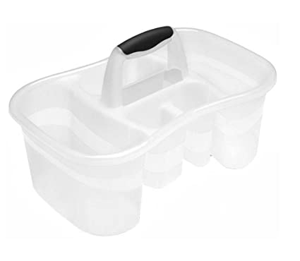 Amazon.com: Sterilite Bath Caddy with 5 Compartments, Large, Clear ...