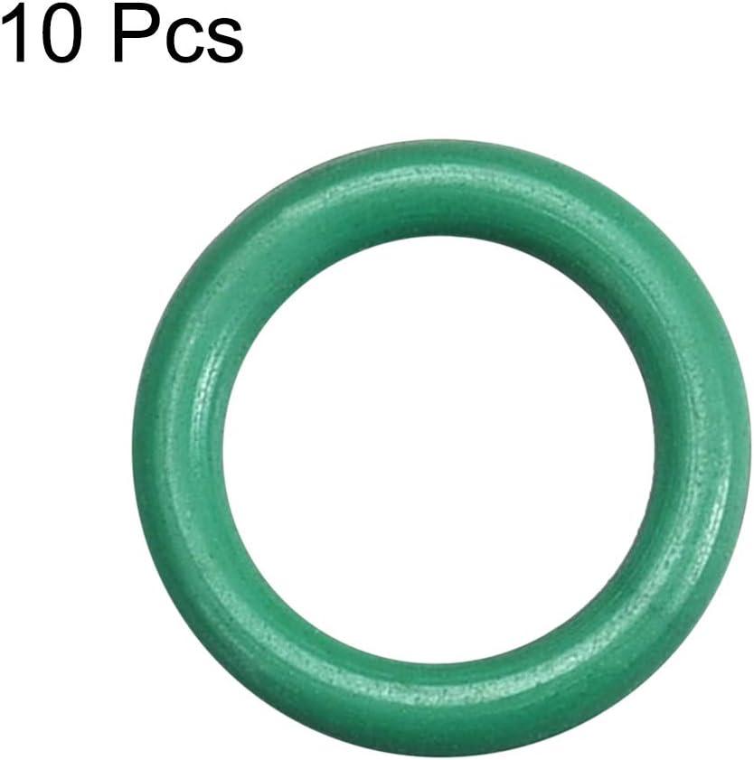 sourcing map 10 St/ück Fluorkautschuk O Ringe 1,5 mm breite Dichtung aus Gummi gr/ün 9,5 mm x 12,5 mm x 1,5 mm