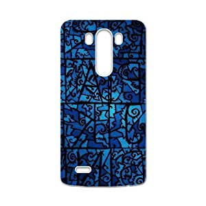 Blue unique pattern Phone Case for LG G3 by heywan