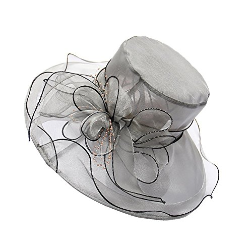 23b265725db7 sandals Lvaiz Women's Organza Church Kentucky Derby Hats Fascinator Bridal  Cap British Tea Party Wedding Hat. ""