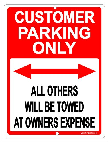 Parking Only Sign Aluminum Top - 1