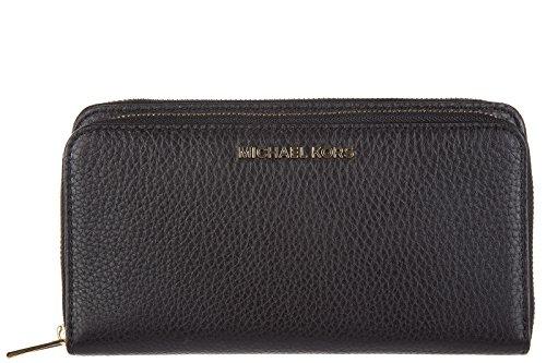 MICHAEL Michael Kors Adele Double-Zip Wallet, Color Black by Michael Kors