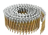 Hitachi 13361 1-1/4-Inch x 0.092-Inch Full Round-Head Ring Shank Hot-Dipped Galvanized Wire Coil Siding Nails, 3600-Pack