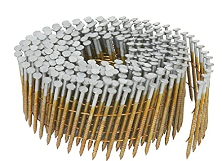 Hitachi 13361 1-1/4-Inch x 0.092-Inch Full Round-Head Ring Shank Hot-Dipped Galvanized Wire Coil Siding Nails, 3600-Pack (Discontinued by the Manufacturer)