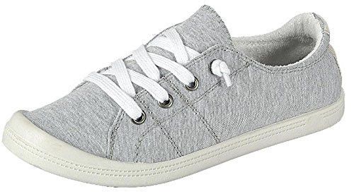 Forever Link Women's Classic Slip-On Comfort-01 Light Grey Fashion Sneaker (10) (Best Casual Shoes For Women)