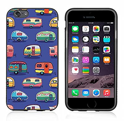IP6 Vintage Camper Print On Blue For Iphone 6 Case Cover By Atomic Market