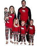 Christmas Family Elk Matching Pajamas for Mom Dad Kids Sleepwear Set Deer Nightwear