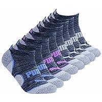 Puma No Show Women's Socks, Moisture Control Mesh Ventilation (8 Pair)