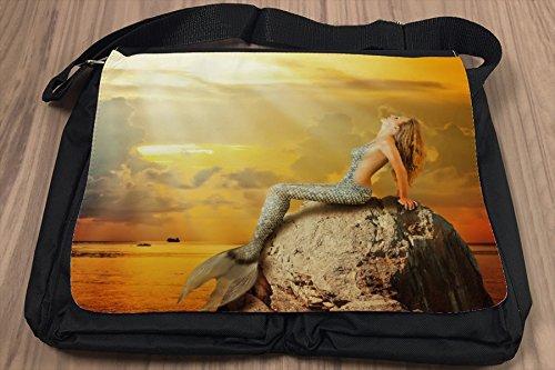 Umhänge Schulter Tasche Märchen Meerjungfrau bedruckt Nostalgie EPb2k