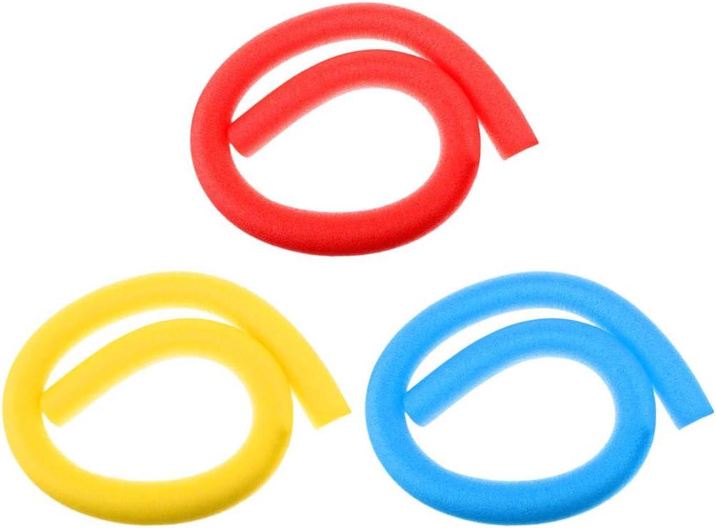 Hellery 3 Pieces Flexible /& Floating Pool Hollow Foam Noodles Buoyancy Aid Float Tube