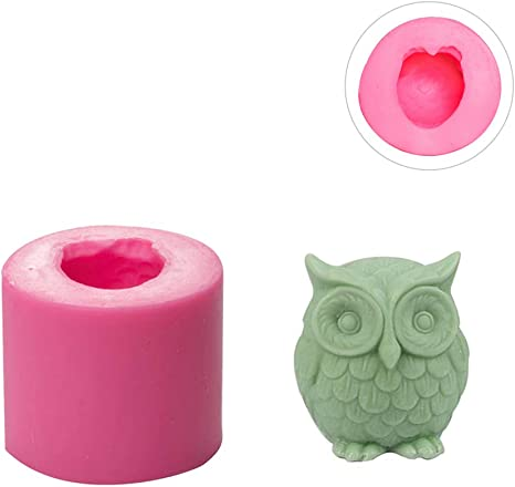 Mini Owl Silicone DIY Mold to make Soap Candle Chocolate Candy Tray Mold ICE Party maker mould