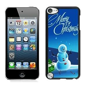 2014 Latest Christmas snowman Black iPod Touch 5 Case 19