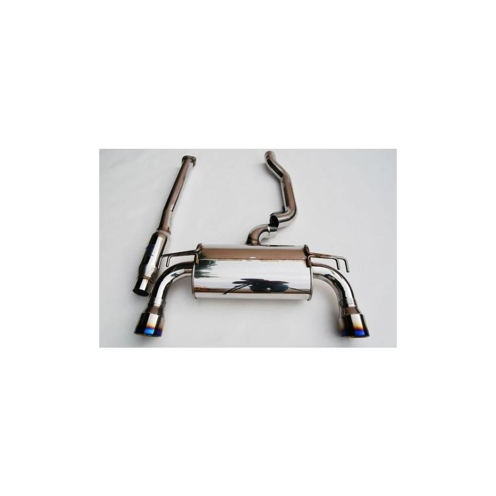 Invidia (HS09MEXG3T) Q300 Cat-Back Exhaust System with Titanium Rolled Tip for Mitsubishi Evo X