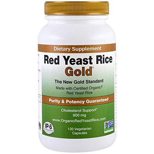 Red Yeast Rice Gold 600 mg. – IP6 International – 120 Vegetarian Capsules