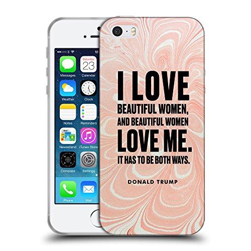 Super Galaxy Coque de Protection TPU Silicone Case pour // Q04040556 Donald Trump marbre fluide // Apple iPhone 5 5S 5G SE