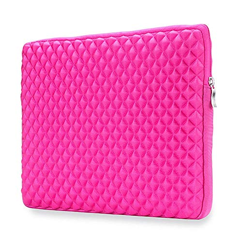 "Price comparison product image Notebook Portable Sleeve 15"",  Carrying Bag for Macbook Pro 15 inch with Touch Bar 2016-2018 (A1990 & A1707),  Screen Protective Messenger with Zipper for 15-15.4 Notebook Ultrabook, HP Dell etc - Pink"