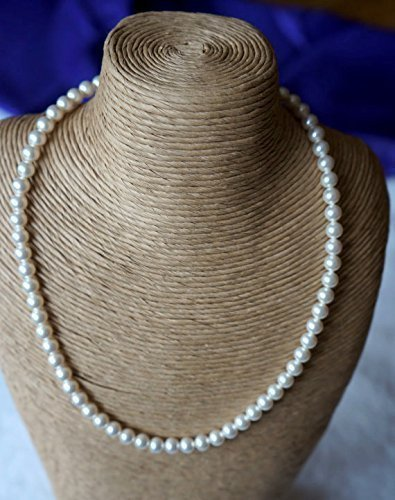 Pearl Necklace - Swarovski Pearl Bridal Jewellery, Single string of Pearls, Sterling Silver Rose Clasp, Bridal Jewellery - Wedding Accessories - Bridesmaids Accessories - Mothers Day Gift Ideas