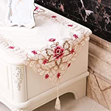 Table Cloth Embroidered Table Runner Table Tv Cabinet Dresser Sideboard Dustproof Cover Towels Cloth Shoe Chest Chinese Simple,One Thousand And Eleven,Embroidery,Small Horn Several 83*83 Squares