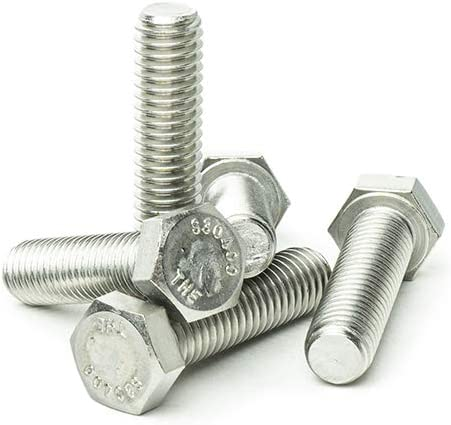 Machine Point 1//4-20 x 1 1//2 Hex Head Tap Bolt Cap Screw Fully Threaded Stainless Steel 18-8 Quantity 25 by Bridge Fasteners Bright Finish