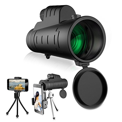High Magnification Monocular Single-tube Telescope 12X50 Handheld or Triangle Supported Dustproof Stable Monocular Matched with Phone to Take Pictures for Bird Watching Hunting Travelling Sightseeing
