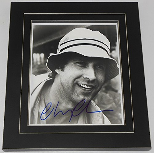 Caddyshack Chevy Chase Hand Signed Autographed B/W 8x10 Glossy Photo Framed Loa (Christmas National Vacation Script Lampoons)
