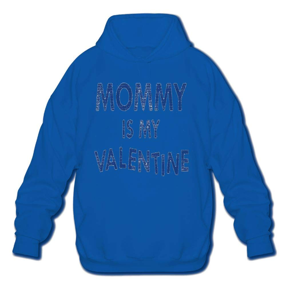 Achunlan Mens Long Sleeve Cotton Hoodie Mommy is My Valentine Sweatshirt