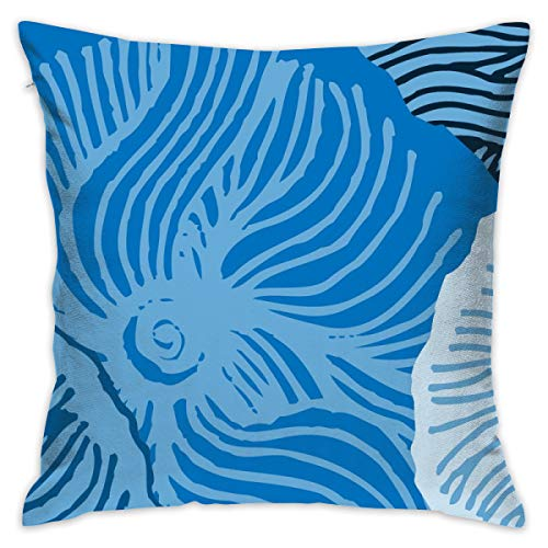 yifeier Blue Cherry_1071 Decorative Pillow Case Home Decor Pillowcase (18x18 Inches)