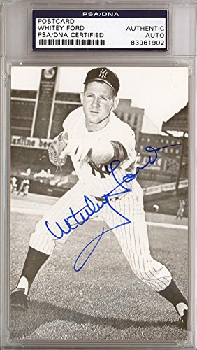 Whitey Ford Autographed Signed 3.5x5.5 Postcard New York Yankees #83961902 PSA/DNA Certified MLB Cut Signatures
