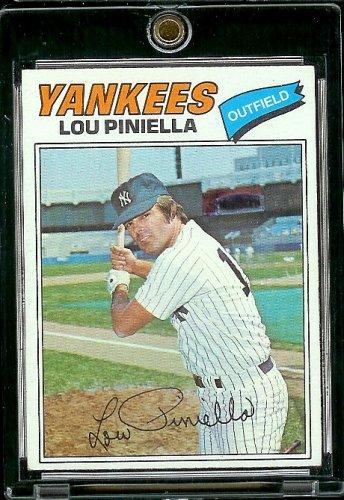 Lou Piniella New York Yankees (Baseball Card) 1977 Topps #96