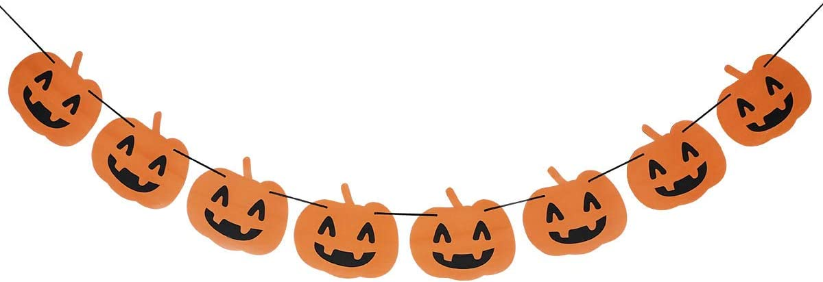 Pumpkin Banner Garland for Fall Autumn Thanksgiving Day Decor,Halloween Party,Table Mantle,Home Decor,Baby Shower Party,Pumpkin Themed Party Decorations