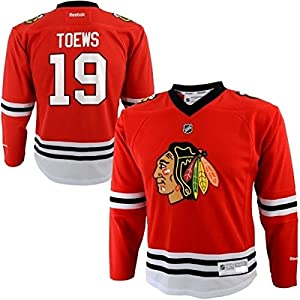Jonathan Toews #19 Chicago Blackhawks NHL Kids 4-7 Home Jersey Red (Kids 4-7 One Size)