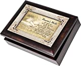 Cottage Garden Heavens Walk Bereavement Italian Style Burlwood Finish with Decorative Inlay Jewelry Music Box - Plays Song How Great Thou Art