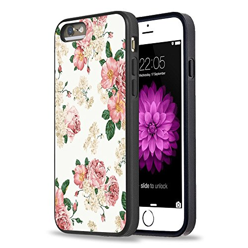 Price comparison product image iPhone 5S Case Apple 5 / 5s Black Cover TPU Rubber Gel - Retro nostalgia Floral pattern