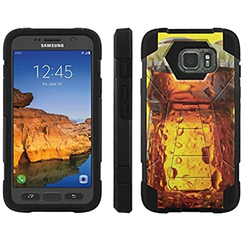 AT&T [Galaxy S7 Active] ShockProof Case [ArmorXtreme] [Black/Black] Hybrid Defender [Kickstand] - [Cold Beer] for Samsung Galaxy [S7 Active] Sales