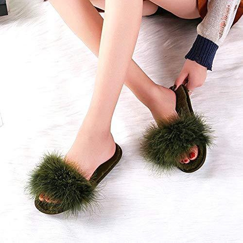 Épaissir Antidérapante Taille Vert Rouge Pantoufles Tingting Pour Pantoufle couleur Hiver Chaussures Coton 37 Solide Maison De Couleur wqxBfFA